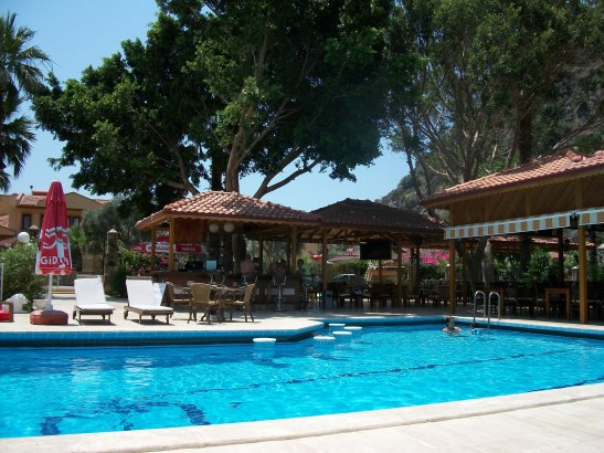 Turkish coast, swimming pool