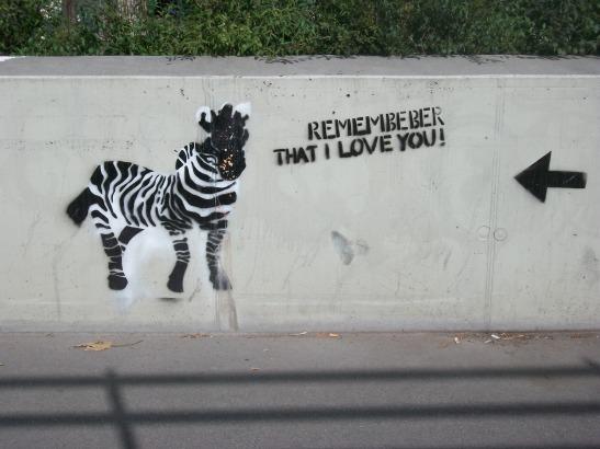 graffiti, Vienna, Austria, zebra