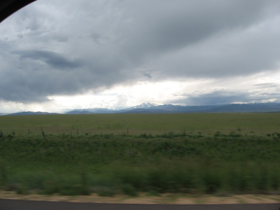 I-25, mountains, Northern Colorado