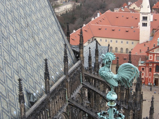 Lookout, St. Vitus, Prague, church photos, travel, tourism