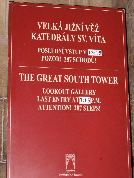 Lookout Steps, Prague, St. Vitus