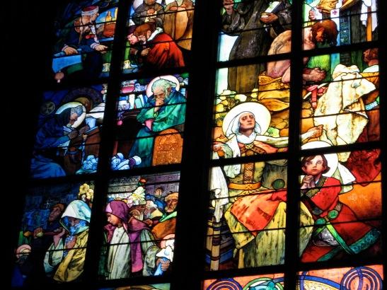 Mucha, St. Vitus, window, stained glass