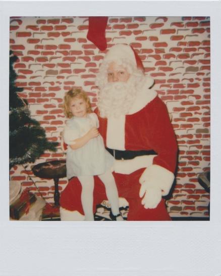 Christmas photos, childhood, Santa