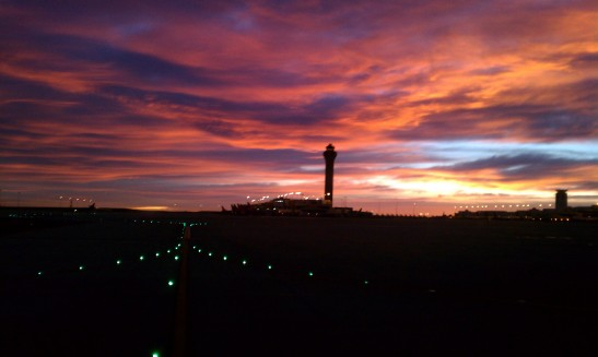 DIA, control tower, morning