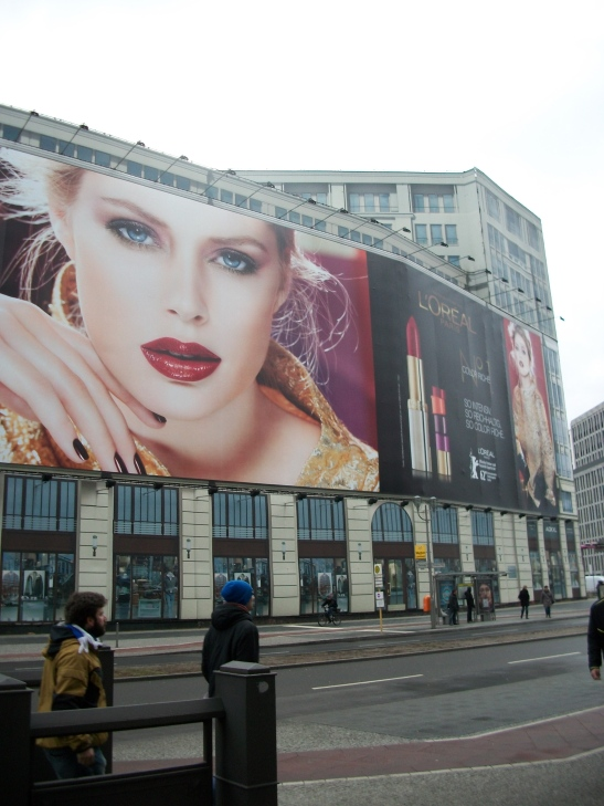 billboards, models, Berlin