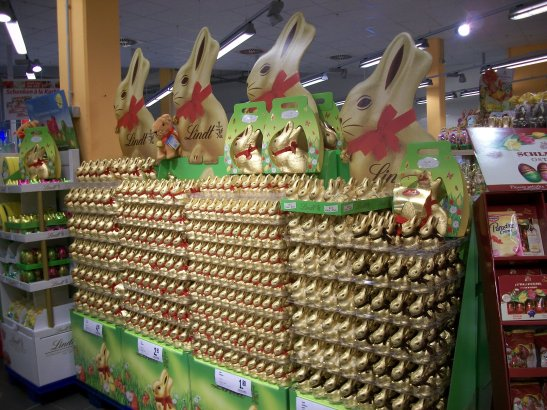 Lindt Hase, bunnies, Easter, chocolate