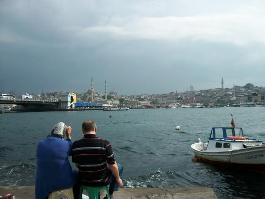 Istanbul, Bosphorus, fishing