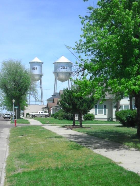 water towers, Kansas