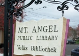 Mt. Angel, public library, Oregon