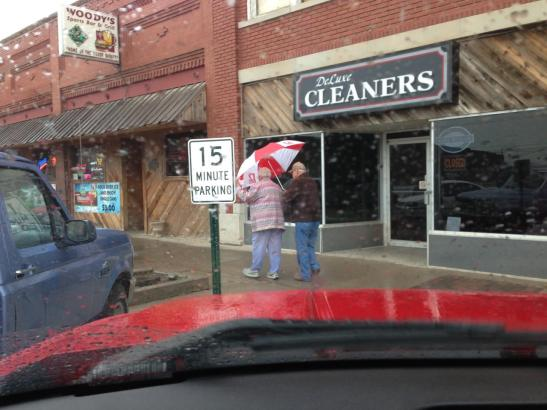 elderly, umbrella