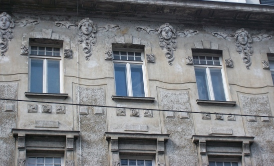 Crumbling Faces in Vienna, Austria.