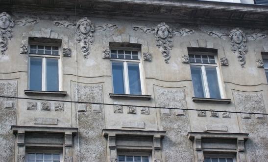 Crumbling Faces in Vienna, Austria.