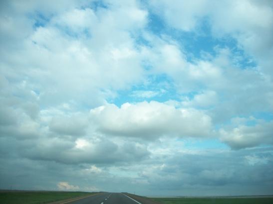 Drive to Nebraska, sky