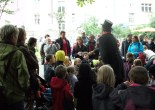 Prague, children, flea circus
