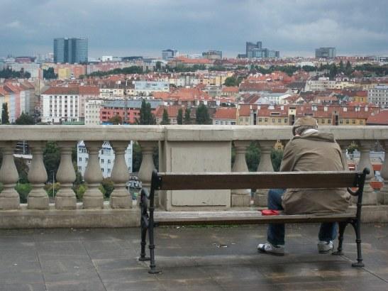 Prague, Czech Republic, dog walker