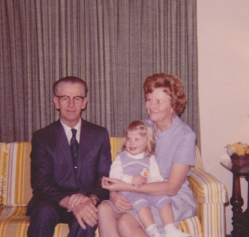 Grandpa and Grandma with my sister.