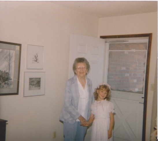 Grandma and Yours Truly. Once Upon A Time.