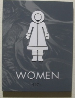 women, funny signs, alaska
