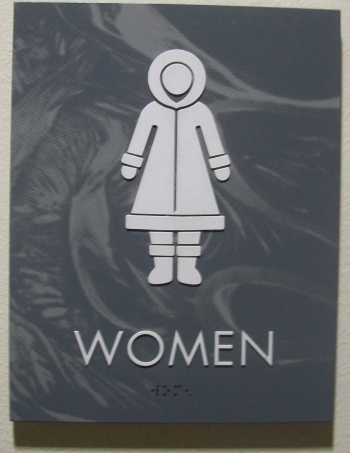 women, funny signs, alaska