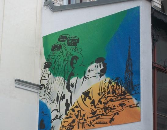 vienna, st stephens graffiti, prater