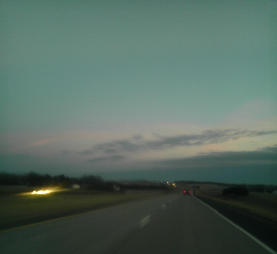 Nebraska at dusk