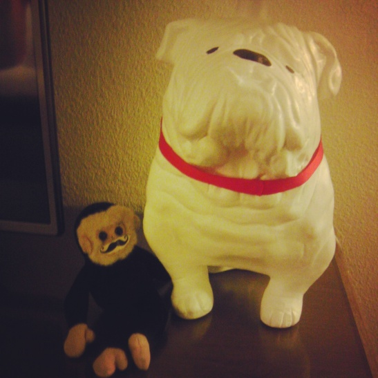 mooch the monkey, bulldog lamp