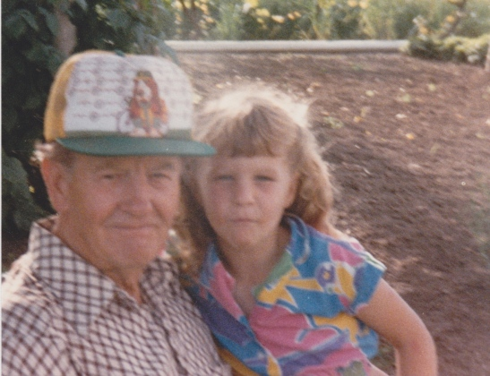 Here I am with my Grandpa. We never went to Kohl's together.
