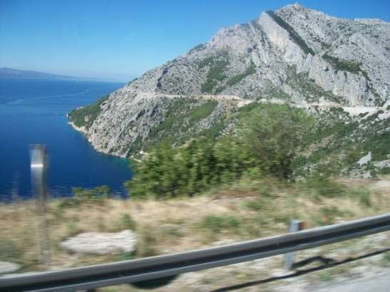Croatian coast, bus