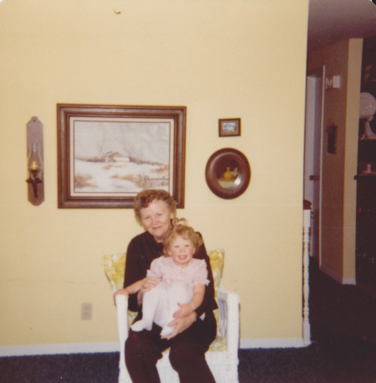Yours truly with Grandma--looking a bit like twins. :)