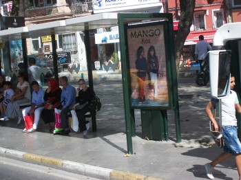 Istanbul bus stop