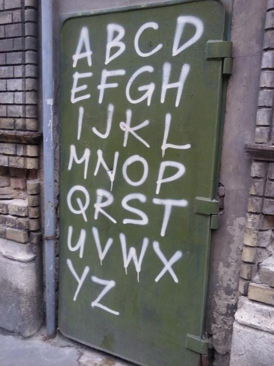 Budapest Alphabet.