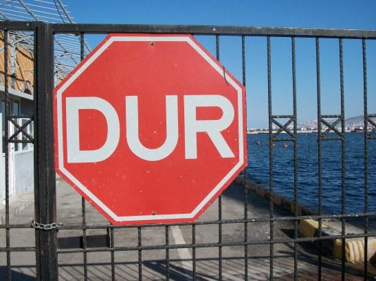 dur, Turkish signs