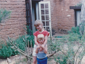 With my little brother-- back in the day. :)