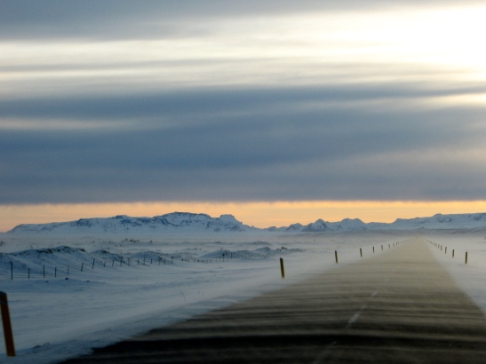 In case it is very hot where you are, here's an image of Iceland in March.